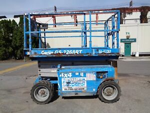 Genie Gs3268rt 4x4 Rough Terrain Man Aerial Boom Scissor Lift 32 Ft Height