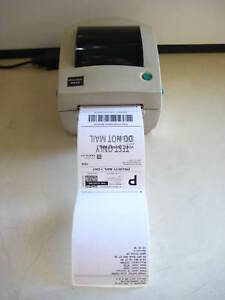Zebra Ups Lp2844 Thermal Barcode Label Printer No Power Adapter