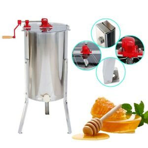 Us 2 Frame Manual Honey Extractor Beekeeping Equipment Stainless Steel Equipment