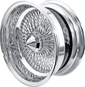 1 17 X 8 Pinnacle 100 Spoke Reverse Chrome Wire Wheels Made In Usa New