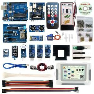 Kookye Robot Car Electronics Parts Kit W cd Tutorial For Arduino Tank Platform