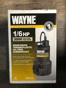 Wayne Rup160 51 6 Gpm 1 1 4 Oil free Submersible Thermoplastic Utility Pump