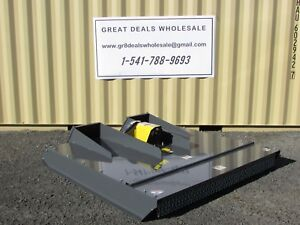 72 Hd Brush Bush Hog Cutter Mower 4 Bobcat Case Geil Skid Steer Attachment