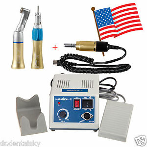 Dental Lab Marathon Micro Motor Polisher straight Handpiece contra Angle Us S5x