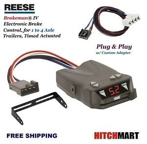 Reese Trailer Brake Control W Adapter For 1995 2009 Dodge Ram Pickup