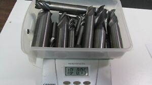 10 Lbs Of Clean Solid Carbide End Mills For Re sharpened Or Scrap