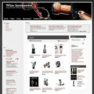 Completed Best Online Wine Accessories Affiliate Store Business Website For Sale