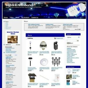 Lights Accessories Online Store Business Website For Sale Free Domain Name