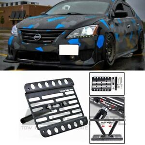 Ttow Hook Hole License Plate Mount Relocator Bracket For 13 up Nissan Sentra B17