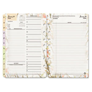 Blooms Dated Daily Planner Refill January december 5 1 2 X 8 1 2 2016 Fdp3544