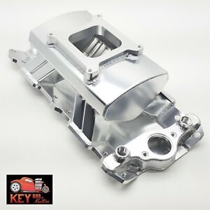Small Block Chevy Fabricated Welded Aluminum Intake Manifold Sbc 350 400 Tunnel