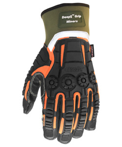 Cestus Armored Gloves Deep Ii Grip Miners 8025 Impact Protection