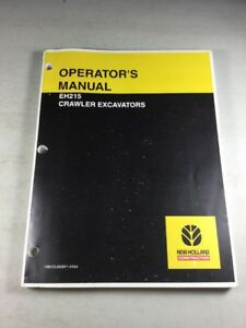 New Holland Eh215 Excavator Operators Manual