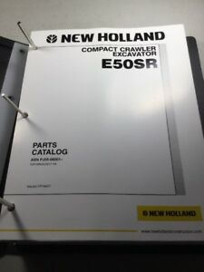 New Holland E50sr Excavator Parts Catalog Manual