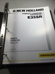 New Holland E35sr Excavator Parts Catalog Manual