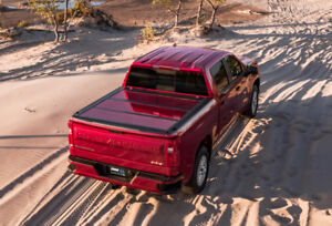 A r e Fusion Painted Folding Bed Cover 2019 Gmc Sierra 70 Bed Red