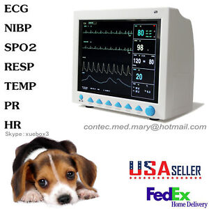 Cms8000vet Animal Icu Patient Monitor Multi parameter Vet Veterinary 2 5days Us