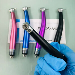 Dental Led High Speed Air Turbine Color Handpiece Pana Max 2 4hole Fit Nsk 4colo