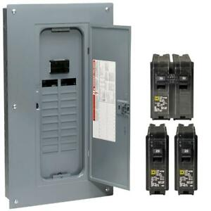 Square D Homeline 100amp 20space 40circuit Main Breaker Neutral Load Center
