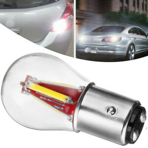 4 Led 1157 Ba15d Cob Turn Signal Drl Light Car Reverse Backup Brake Lamp Bulb