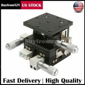 3 Axis Linear Stage Trimming Platform Bearing Tuning Sliding 60x60mm Xyz Us Sell