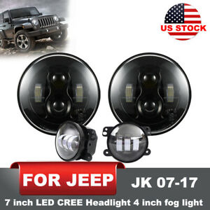 Front Bumper Built in Winch Plate Turn Signal Lights For 07 17 Jeep Wrangler Jk
