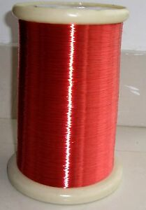 Polyurethane Enameled Copper Wire 40 Awg Magnet Wire 2uew 155 0 08mm Red A4d Lw