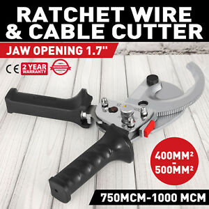 Ratcheting 1000 Mcm Wire Cable Cutter Electrical Tool Light Aluminum Adjustable
