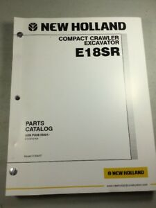 New Holland E18sr Crawler Excavator Parts Catalog Manual