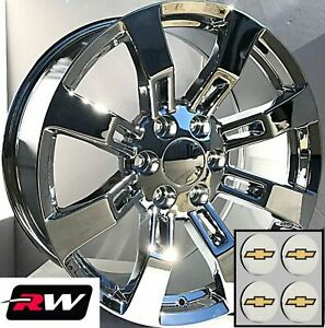 22 Inch Chevy Avalanche Factory Style Denali Wheels Ck375 Chrome Rims 6x139 7