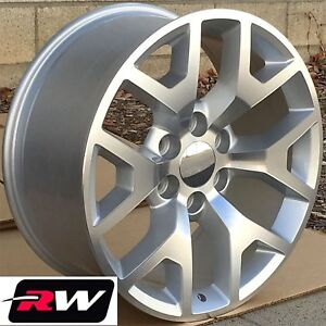 24 X10 Inch Chevy Tahoe Oe Replica Honeycomb Wheels Machined Silver Rims 31