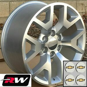 20 X9 Inch Chevy Tahoe Factory Style Honeycomb Wheels Machined Silver Rims