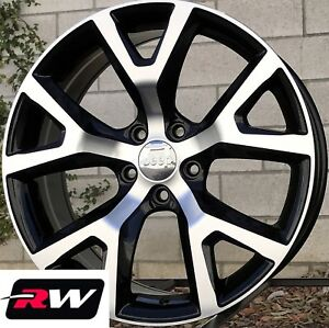 18 Inch Jeep Cherokee Trailhawk Oe Factory Replica Wheels Black Machined Rims