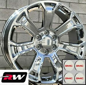 20 Inch Gmc Sierra 1500 Factory Style 5665 Wheels 2017 2018 Chrome Rims 6x139 7