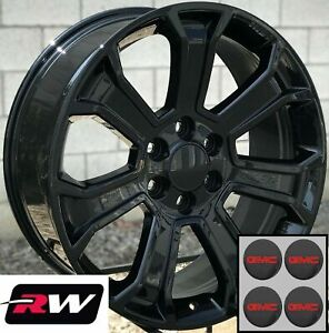 20 X9 Inch Rw 5665 Wheels For Gmc Truck Gloss Black Rims 6x139 7 6x5 50 24 Set