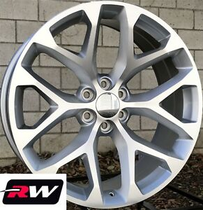 24 X10 Inch Chevy Tahoe Oe Replica Wheels Snowflake Rims Machined Silver