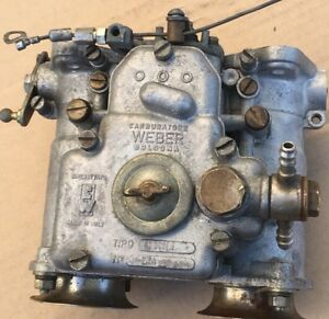 Weber Dual Throat Side Draft Carburetor 40 Dcoe 2 Made In Italy