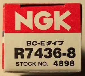 Ngk R7436 8 4898 Racing Competition Spark Plugs Heat Range 8