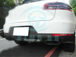 Unpainted Rear Bumper Splitter Lip Cover Fit For Porsche Macan 2015 2016
