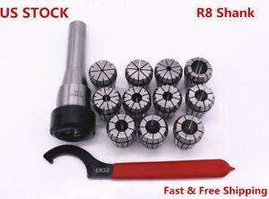 11pcs Er32 Spring Collets Set With R8 er32 Collet Chuck Holder For Cnc Milling