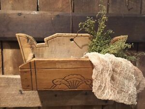 Primitive Old Antique Wooden Candle Box Folk Art Cabin Colonial