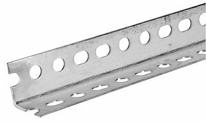 Hillman 11109 Slotted Steel Angle 1 1 2 X 1 1 2 X 3 4 Pieces New