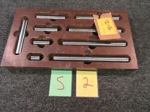 9 Pc Precision Machinist Gauge Block Rods Cylinders 1 9 0001 Tool Shop Used
