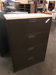 4 Drawer Lateral Size File Cabinet By Gf Office Furniture W lock