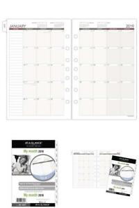 At a glance Day Runner Monthly Planner Refill January 2019 December 5 1 2 X