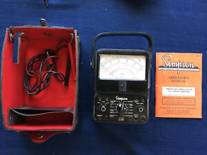 Simpson 260 Series 6 Volt Multimeter With Wires Case And Manual