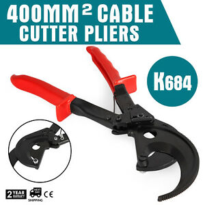 K684 t Ratcheting 800 Mcm Wire Cable Cutter Up To 400mm2 Copper Light Cutting