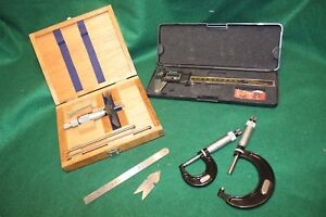 Fowler 0 3 Depth Starrett Micrometers Electronic Calipers More Gunsmith