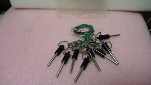 8 Ea Carr Lane 3blpr1 00 Ball Lock Pin With Cable New Old Stock
