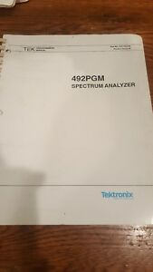 Tektronix 492pgm Spectrum Analyzer Programmers Manual